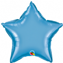 "Blue Chrome Foil Balloon (20"" Star) 1pc"